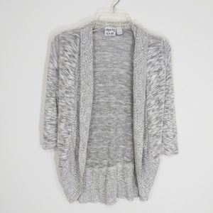 3/$20 Merled knitted gray cardigan size S